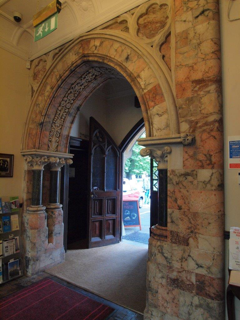 The entrance hall at Insole Court