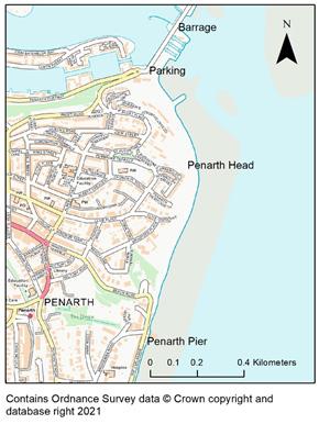 Map of Penarth Head